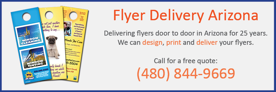 flyer delivery arizona