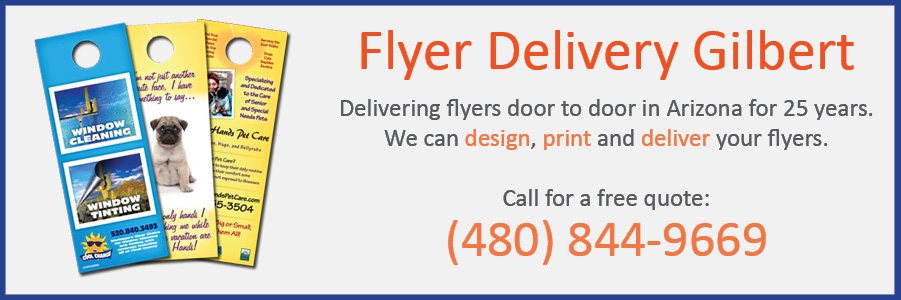 flyer delivery giilbert