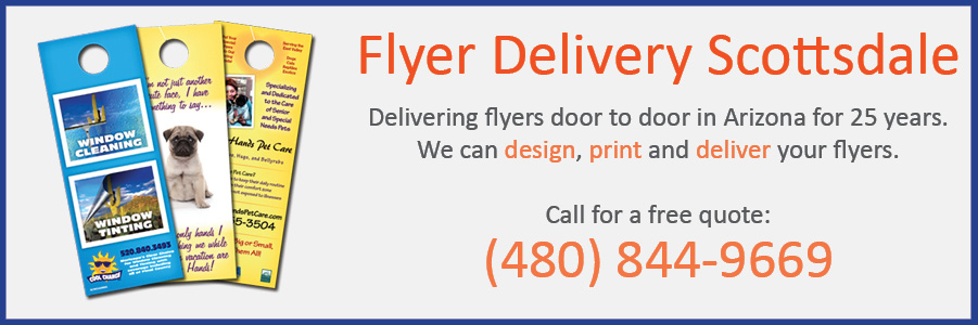 flyer delivery scottsdale